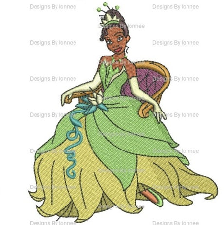 Chair Sitting Tiana Princess And The Frog Iron On Patch