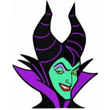 Face Maleficent Sleeping Beauty Iron On Patch