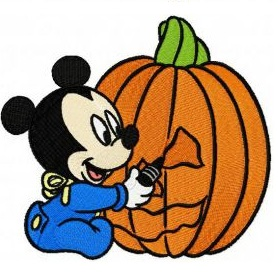 halloween baby mickey mouse iron on patch